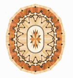 Flooring inlay: R93 Wood Medallion
