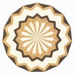 Flooring inlay: R9 Wood Medallion