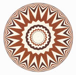 Flooring inlay: R12 Wood Medallion