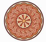 Flooring inlay: R82 Wood Medallion