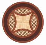 Flooring inlay: R89 Wood Medallion