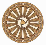 Flooring inlay: R90 Wood Medallion