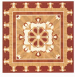 Flooring inlay: R64 Wood Medallion