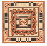 Flooring inlay: R65 Wood Medallion