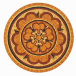 Flooring inlay: R68 Wood Medallion