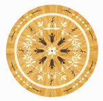 Flooring inlay: R69 Wood Medallion