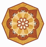 Flooring inlay: R70 Wood Medallion