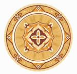 Flooring inlay: R71 Wood Medallion