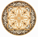 Flooring inlay: R74 Wood Medallion