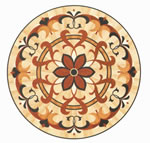 Flooring inlay: R75 Wood Medallion