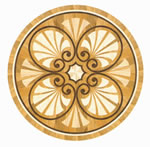 Flooring inlay: R78 Wood Medallion