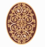 Flooring inlay: R81 Wood Medallion