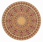 Flooring inlay: R86 Wood Medallion