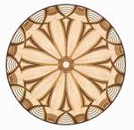 Flooring inlay: R88 Wood Medallion