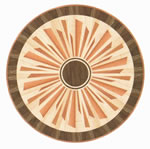Flooring inlay: R30 Wood Medallion