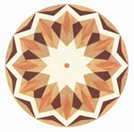 Flooring inlay: R31 Wood Medallion