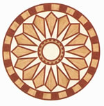 Flooring inlay: R33 Wood Medallion