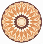 Flooring inlay: R35 Wood Medallion