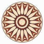 Flooring inlay: R36 Wood Medallion