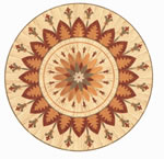 Flooring inlay: R39 Wood Medallion