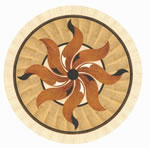 Flooring inlay: R41 Wood Medallion