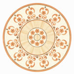 Flooring inlay: R42 Wood Medallion