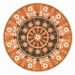 Flooring inlay: R44 Wood Medallion