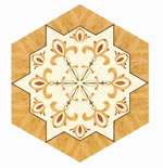 Flooring inlay: R47 Wood Medallion