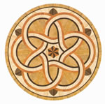 Flooring inlay: R48 Wood Medallion