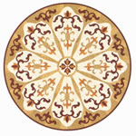 Flooring inlay: R50 Wood Medallion
