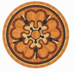 Flooring inlay: R49 Wood Medallion