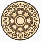Flooring inlay: R53 Wood Medallion