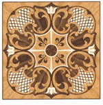 Flooring inlay: R59 Wood Medallion