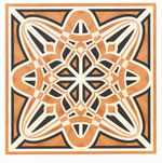 Flooring inlay: R61 Wood Medallion