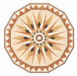 Flooring inlay: R10 Wood Medallion