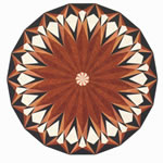 Flooring inlay: R14 Wood Medallion