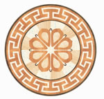 Flooring inlay: R24 Wood Medallion