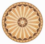 Flooring inlay: R102 Wood Medallion