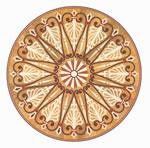 Flooring inlay: R103 Wood Medallion