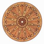 Flooring inlay: R104 Wood Medallion