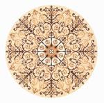 Flooring inlay: R105 Wood Medallion
