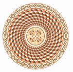Flooring inlay: R107 Wood Medallion