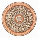 Flooring inlay: R108 Wood Medallion