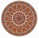 Flooring inlay: R109 Wood Medallion