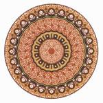 Flooring inlay: R110 Wood Medallion