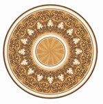 Flooring inlay: R111 Wood Medallion
