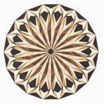 Flooring inlay: R13 Wood Medallion