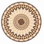 Flooring inlay: R15 Wood Medallion