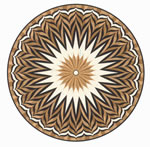 Flooring inlay: R16 Wood Medallion