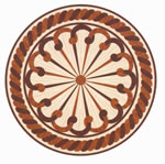 Flooring inlay: R19 Wood Medallion